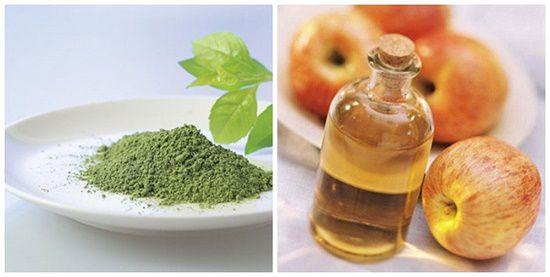 Kết hợp dấm táo và bột trà xanh trị mụn cám siêu hiệu quả